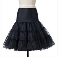 Wholesale Kleider Prom - 2017 Freies Verschiffen Kurz Organza Petticoat Krinoline Vintage Hochzeit Braut Petticoats für Prom Kleider Unterrock Rockabilly Tutu