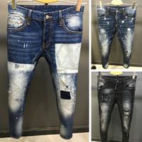 Wholesale 36 Holes - 2017 new arrival fashion design men ripped jeans famous brand biker jeans men top quality wholesale factory
