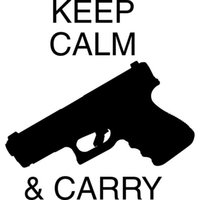 Wholesale Keep Calm Decal - 15.2CM*16.2CM Decal Sticker Keep Calm Gun Rights Funny Car Stickers Car Styling Accessories