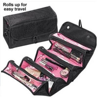 Wholesale Rolling Travel Cosmetic Bag - Wholesale- Multifunction Rolling Travel Cosmetic Bag Gift For Travel Women And Men Large Capacity Portable Makeup Bag Can Be Hanging