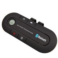 kit carro portátil auto falante venda por atacado-Sun Visor Portátil Speakerphone Bluetooth Sem Fio Receptor de Música de Áudio Mãos Livres Bluetooth Car Kit Bluetooth Speaker Multiponto