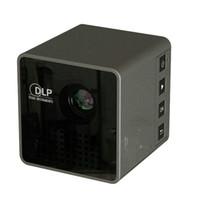 micro usb projetores venda por atacado-Uninc P1 + DLP Micro Projetor Mini Portátil LED Projetores com 3.5mm Porta De Áudio Micro USB Bolso Filme Casa Beamer