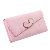 High Fashion Women Wallet Scrub Hit Color Lnclined Lid Ladies Wallet Design criativo Hasp Clutch Coin Pocket Card Holder