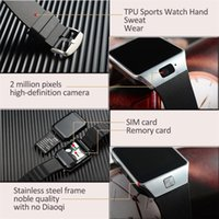 Wholesale Top Inch Android Phones - Top Quality Smartwatch DZ09 Bluetooth Smart Watch With SIM Card For Android apple Samsung IOS Android Cell phone 1.56 inch Free