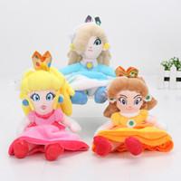 peluches princesa mario bros al por mayor-10pcs Super Mario Bros Princess Peach Daisy Rosalina muñeca de felpa muñeca de peluche 8