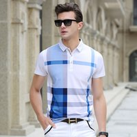 Wholesale Business Clothes Summer - 2017 New Arrival Men Polo Shirt Slim Fit Short Sleeve Men Clothing Luxury Brand Business & Casual Summer Mens Polo Shirts Male Clothes MC001