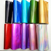 Wholesale Diy Clothes Accessories Metal - Five-color holographic bright leather mirror metal pu leather wall flexible packaging shell DIY clothing accessories fabric