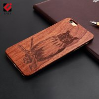 Custodia in legno modello Cool per iPhone 5 5s se Cover in plastica rigida Design Pattern Stampa Incisione Mobile Phone Shell