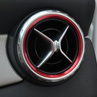 Wholesale Car Decoration Trim - Car styling, Air Condition Air Vent Outlet Ring Cover Trim Decoration for Mercedes Benz A B Class CLA GLA180 200 220 260 AMG Accessories