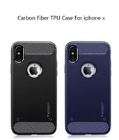 Wholesale Carbon Fiber Pricing - Cheap price Carbon Fiber TPU Case for iphone 8 iphone X Cover Silicone Soft TPU Carbon Fiber Texture Phone Cover Case