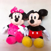 Wholesale Stuffed Minnie - Wholesale- 1pc 30cm Mini Lovely Mickey Mouse And Red pink Minnie Mouse Stuffed Animals Plush Toys For Children's Gift(3 color)