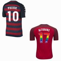 Wholesale usa rugby shirt xl - 2017 USA red Sports Thai quality 2018 jerseys free shipping DEMPSEY DONOVAN BRADLEY ALTIDORE Pulisic shirts