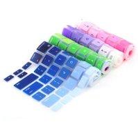 Wholesale Macbook Keyboard Colors - US Version Soft Silicone Gradient Colors keyboard Case Protector Cover Skin For MacBook Pro Air Retina 13 15 17 Waterproof Dustproof OEM