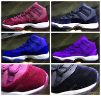 Air Retro 11 Velvet Heiress Red Black Blue Purple Mens Womens Basketball Shoes Sneakers Desconto 11s Women Mens Basketball Sports Shoes