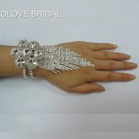 Wholesale Real Bridal Jewelry - New Arrival Romantic Crytal Bridal Bracelet Free Shipping In Stock Ready to Ship Wedding Accessory Hand Chain Bridal Jewelry Real Photo
