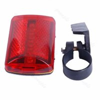 Vente en gros - 1pc Bicycle 5 LED Rear Tail Red Bike Torch Back Light Bicyclette Avertissement Lampe Bicyclette Light
