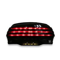 скобка оптовых-Дым три-бар крыло LED поворот задний фонарь +кронштейн для Harley Softail FXSTB 06-UP