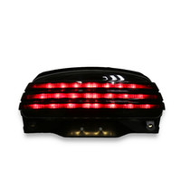 fender led venda por atacado-Fender Tri-Bar Fender LED Turn Tail Light + Suporte Para Harley Softail FXSTB 06-UP
