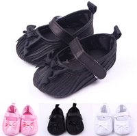 Wholesale shoes first steps - Fashion Fold shoes first step neonatal soft soles baby bed shoes baby girl princess shoes