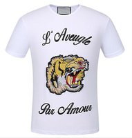 Wholesale Yellow Duck T Shirt - 2017 New Hot Sell T-Shirt Men's Short Sleeve Cotton Jersery Tee Shirt Print Embroidery Snake Tiger Duck Round Collar Men Casual Tops 92