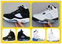 Wholesale Medium Graphite - Discount Retro JV 5 Raging Bull 3m Pro Stars Olympic Gold Graphite White Cool Wolf Grey Basketball Shoes Mens Sports Shoes Athletics Sneaker