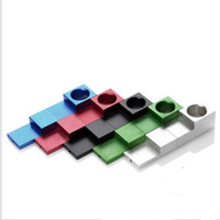 Wholesale Magnet Pipes - Super Metal Magnetic Pipe TinkSky Mini Type Foldable Metal Magnet Cigarette Tobacco Smoking Pipe Magnet Folding Pipe