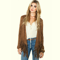 Wholesale Modern Cardigans - Fashion Modern Women's Jackets 2017 Autumn Coat for Lady's Clothes Tassel Long Sleeve Cardigan Jacket Gril's Jackets Outerwear
