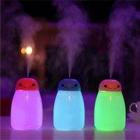 Wholesale Desktop Ultrasonic - 400ml LED Night light Oil Diffuser Aromatherapy Baymax Mist Maker Desktop Portable Aroma Humidifier Diffuser Cool Mist Fresh Air Spa