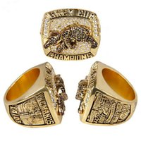 Wholesale Tiger Ring For Men - Football Fans Gifts Hot Sale Alloy 1999 Canada Hamilton Tigers Grey Cup Championship Ring For Man