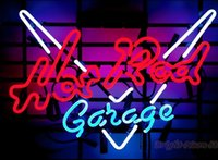 Wholesale Hot Rod Neon Sign - 17''X14'' Hot Rod Garage Neon Sign For Store Beer Bar Pub Real Neon Glass Light