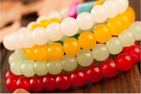 Wholesale Multi Colored Agate - NEW multi-layer crystal bracelet Colored stone red agate bracelet the cheapest bracelets many styles can choose