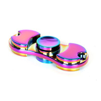 Wholesale rainbow choice - Hot Selling Toy EDC Hand Spinner Fidget Toy Good Choice For decompression anxiety Finger Toys rainbow color aluminum hand spinner