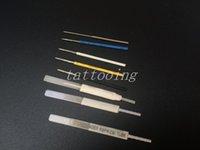 Wholesale Tattoo Mixing Caps - 100PCS Mixed 1R 2R 3R 5R 7R 4F 6F Permanent Sterilized Makeup Needles &50pcs caps For Merlin Permanent Makeup Tattoo Machine Eyebrow Needles
