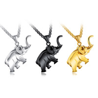 Wholesale stainless steel horse jewelry - Stainless Steel Pendant Necklace Unisex Vintage Egyptian Pharaoh Mini Elephant Horses Ganesha Pendants Necklaces Ethnic Religion Jewelry