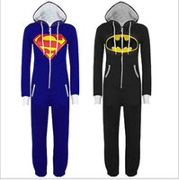 Wholesale Kigurumi Unisex Pyjamas Cosplay Costumes - Mens Ladies Superman Onesie Adult Animal Onesies Onsie Kigurumi Pyjamas Pajamas cosplay Costumes Helloween Gifts