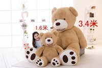 Wholesale Girls Coat Size Years - Selling Toy Big Size 200cm American Giant Bear Skin ,Teddy Bear Coat ,Good Quality Factary Price Soft Toys For Girls
