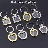 Wholesale keychain picture frames wholesale for sale - Mini Photo Frame Keychains Metal Zinc Alloy Insert Photo Picture Frame Keychain Heart Round Apple Shape Keyrings Couples Keyring Gift