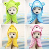 Wholesale Dog Bath Towel Pet Drying Towel Puppy Cleaning Necessary Hooded Super Absorbent Bathrobes Soft Feeling Pet Supplies