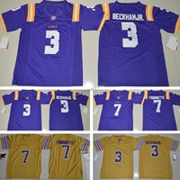 Wholesale Kids Uniform Logos - Kids Youth LSU Tigers 7 Leonard Fournette America College Football Jersey Gridiron Gold Embroidery Logos Authentic Stitched Jerseys Uniforms