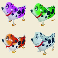 Wholesale Toy Dog Balloon - Walking Balloon Dog Animal Wedding Party Supplies Pet Children Kid Toy Inflatable Decoration Hydrogen Helium Christmas Aluminum Foil Walk