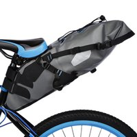 Wholesale Bike Bag Saddle Large - Pannier Water Resistant Bike Bicycle Saddle Bag Reflective Large Capacity Foldable Tail Rear Bag Cycling MTB Trunk Pannier Backpack B