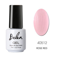 Wholesale Nail Gel Color Stickers - Wholesale-Belen UV Gel Nail Gel Varnishes Build French Manicure Color Pink Color Free Gift Tip Guides Sticker DIY French Manicure