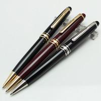 nachfüllen mm großhandel-Luxus Hohe Qualität Meister 163 schwarz harz kugelschreiber schule büromaterial luxus Schreiben schwarz refill stifte für geschäft Geschenk