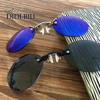Wholesale Mixed Resin Clips - DIDI Small Round Clip On Nose Mini Sunglasses Men Brand Cool Steampunk Sun Glasses Women Vintage Metal Black Coating Gafas H689