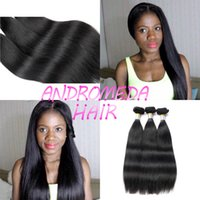 Wholesale 28 Inch Bundle Hair - Peruvian Straight Hair 3 Bundles Sexy Human Straight Weaving 8''inch to 28''inchSoft Baby Hair Extensions