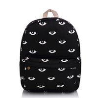 blue daypacks - Harajuku Good Quality Black Eyes Backpack Fashion Campus School Bag For Teens Waterproof Travel Daypacks