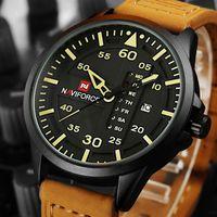 Wholesale Top Brand Divers Watches - NAVIFORCE Top Brand Luxury Men's Sports Watches Men Waterproof Quartz Watch Man Leather Military Wrist watch Relogio Masculino