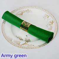 Wholesale Army Green colour Table napkin plain polyester napkin for wedding hotel restaurant party table decoration wrinkle stain resistant