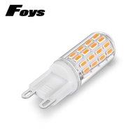 Wholesale Halogen Lumen - 6pcs lot Mini G9 LED Lamp 2.5W LED G9 Light 100V-220V 52pcs SMD4014 Bulb High Lumen Chandelier Lampada LED Lamps Replace Halogen