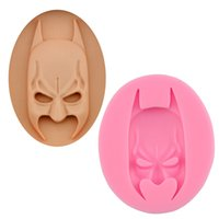 Wholesale Batman Candy - Batman Face Silicone Fondant Cake Mold Soap Mold Chocolate Candy Mould Moulds DIY Decorating Baking Pink Kitchen Tools